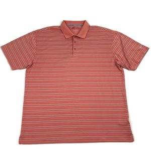 Nike Golf Striped Short Sleeve Polo Shirt Men's XL